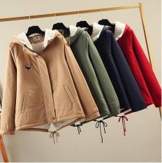 Áo khoác mùa đông nữ áo lạnh vải kaki xịn lót bông dày ấm nữ dày Hàn Quốc