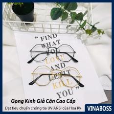 Giọng kính cận nữ Hàn Quốc giá rẻ tròng chống tia UV cao cấp – Mắt kính nữ giả cận mẫu mới VN205 – Tặng kèm túi đựng và khăn lau