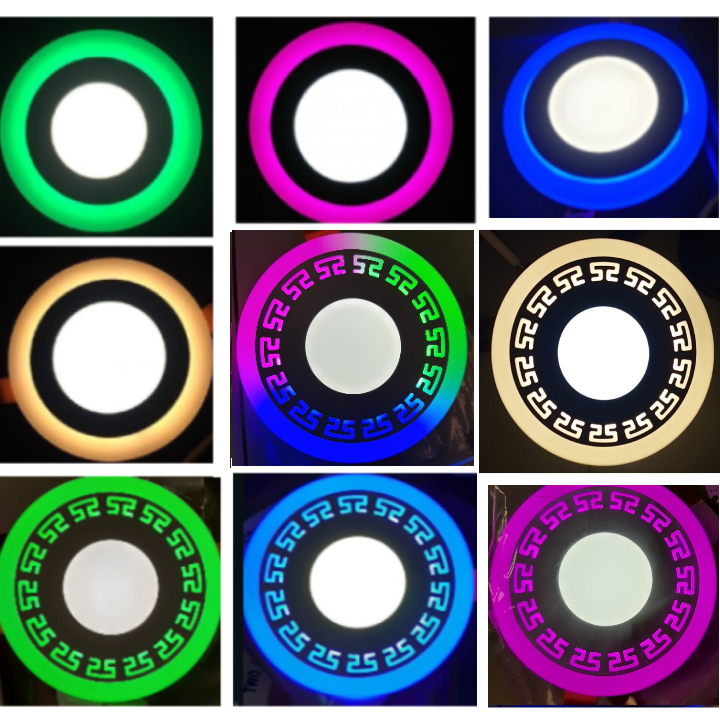 Đèn Led Âm Trần Viền Hoa Văn Viền màu 3 chế độ 3W+3W – thích hợp làm đèn trang trí trần nhà thạch cao – Bảo hành 1 năm