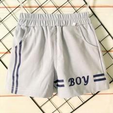 Quần Thun Cotton 100% co giãn 4 chiều túi chéo Tomtom Baby | Mẫu BOY màu ghi| Nhiều size cho bé từ 8-20kg| Quần áo bé trai | Quần bé trai |Quần áo trẻ em