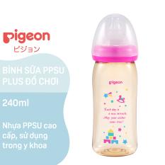 Bình Sữa PPSU Plus Pigeon Hình Đồ Chơi 240ML