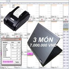 Phần mềm in Bill Aicafe BB BAN MAI + LAPTOP DELL E6410+MÁY IN BILL XPRINTER