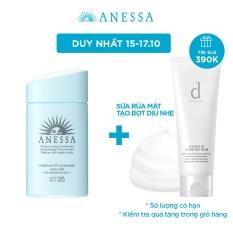 Kem chống nắng dạng sữa dưỡng ẩm dịu nhẹ cho da nhạy cảm và trẻ em ANESSA Moisture UV Sunscreen Mild Milk SPF 35 PA+++