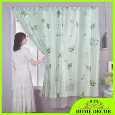 [MẪU QUẢ BƠ] Rèm treo cửa 2 lớp siêu đẹp, chất mềm, rèm cửa sổ, Tấm Thảm Treo Vải Nền Trang Trí Tường Vải. Thành phần chính của vải: 100%. Phong cách: Hiện đại và đơn giản.