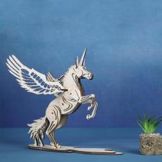 Đồ chơi lắp ráp gỗ 3D Mô hình Kỳ lân Unicorn Laser