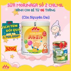 [MUA 1 TẶNG 1] Sữa Morinaga Số 2 Chilmil Nhật Bản 320g còn nguyên đai | Dành cho bé từ 6 – 36 tháng tuổi | HSD: năm 2022