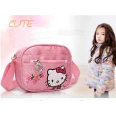 Túi đeo thời trang cho bé PINK035 Pink Xinh Decor túi xách Hello Kitty hồng đeo vai 4 ngăn