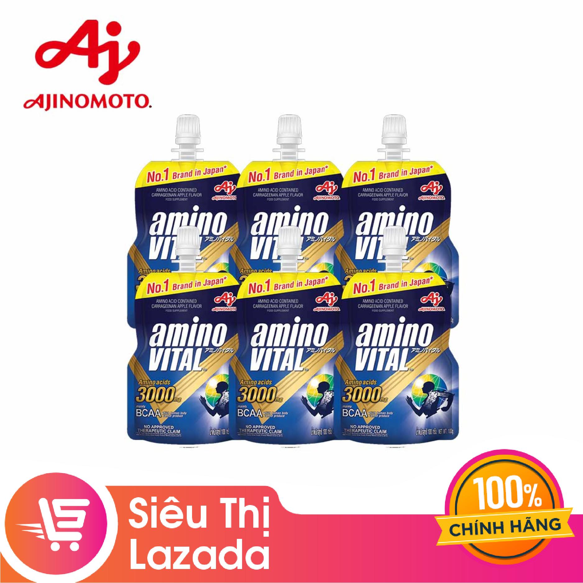 [Siêu thị Lazada] Hộp 6 gói thức uống thể thao Amino Vital hỗ trợ phục hồi cơ bắp (6 gói x 100g)