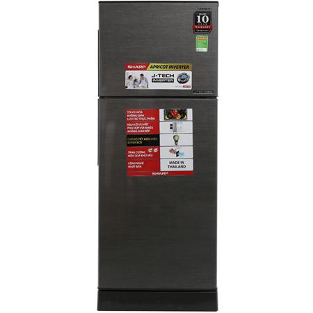 Tủ lạnh Sharp Inverter 196 lít SJ-X201E-DS 2 cửa, Chế độ Extra Eco, Ngăn đá trên, Bảo hành 12 tháng