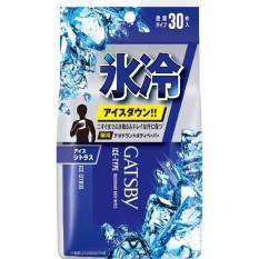 Giấy ướt khử mùi diệt khuẩn Gatsby Ice bịch 30 miếng