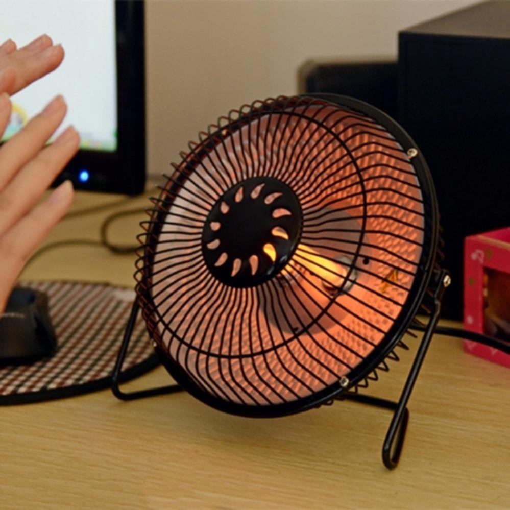 [QUẠT SƯỞI] Quạt sưởi Mini 4 inch - Đèn sưởi mini giá rẻ/ Quạt sưởi halogen heater 4 inch (Màu...