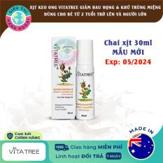 Xịt keo ong Vitatree 30ml Exp05/2024 [Hỗ trợ hô hấp;Làm lành vết thương;Giảm ngứa họng] Hàng Úc (Sản phẩm được bán bởi Siêu Thị Hàng Ngoại)