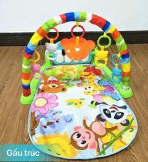 Thảm nằm Vườn Thú cho bé có đàn nhạc piano và khung treo đồ chơi
