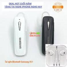 Tai Nghe Bluetooth SamSung Giá Yêu Thương-Nghe Hay( Tặng Tai Nghe Iphone+Kèm Móc Đeo Tai Nghe)