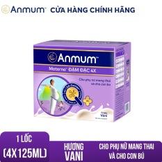 Lốc 4 hộp sữa nước Anmum Materna Đậm đặc 4X hương Vani 4x125ml