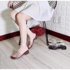Dép lê đính hạt gót 2p êm chân