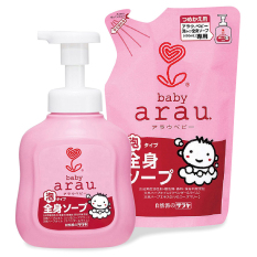 [HCM]Combo Sữa Tắm Gội Toàn Thân Arau Baby 450ml (Mua Chai Tặng Túi)