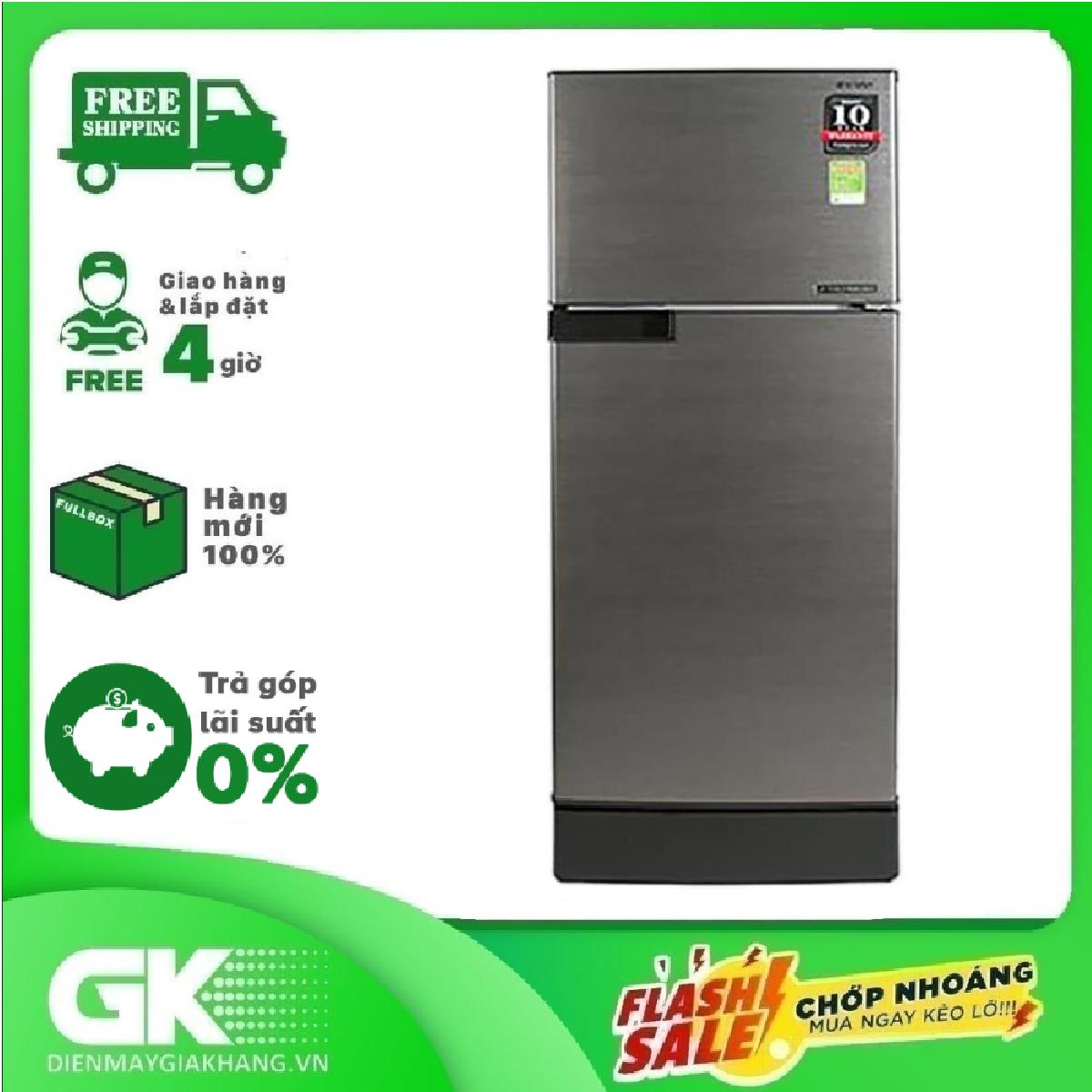 [ SƯU TẬP VOUCHER 300K] Tủ lạnh Sharp Inverter 165 lít SJ-X176E-DSS,công nghệ J-Tech Inverter tiết kiện điện, làm đá nhanh, bảo hành 12 tháng