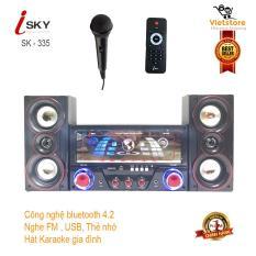 Dàn âm thanh tại nhà – loa vi tính hát karaoke có kết nối Bluetooth USB Isky – SK335U 2.1 Tặng kèm mic hát