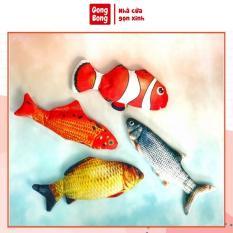 ﺴ◎❈ Cá đồ chơi nhồi bông nhảy nhiều màu có sạc điện con cá vỗ mông bé ru ngủ Gong Bong store