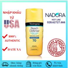 Kem chống nắng Neutrogena Beach Defense SPF 70 (198ml)