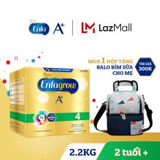 Hộp sữa bột Enfagrow A+ 4 2.2kg (4 túi thiếc 550g) + Tặng 1 balo bỉm sữa cho mẹ