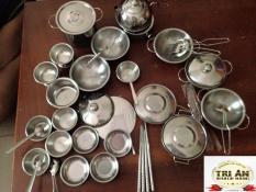 Trò chơi nấu ăn trẻ em, bộ nấu ăn cho bé,đồ chơi nấu ăn nhật bản mini,đồ chơi nấu ăn của nhật,bộ đồ chơi nấu ăn của nhật – Bộ đồ chơi nấu ăn cho trẻ bằng Inox với chất liệu 304 cao cấp , sản phẩm dành cho bé yêu