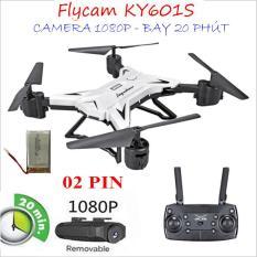 [BỘ 02 PIN] Flycam KY601S Bay 20 phút Camera WIFI FPV Full HD 1080P truyền ảnh trực tiếp về điện thoại, nhào lộn 360Đ, chế độ bay không đầu