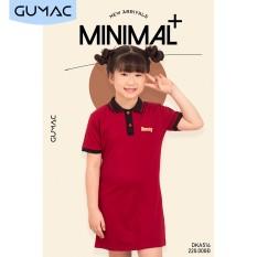 Váy đầm em bé phối màu cổ bẻ DKA514 GUMAC