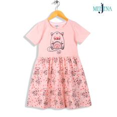 Váy Cho Bé Gái Ngắn Tay Dễ Thương, Họa Tiết Ngộ Nghĩnh 100% COTTON 14-38 kg MEEJENA – 1888