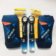 Mua Set 4 món – Tặng 2 cây dao cạo râu dành cho nam : 2chai xịt nước hoa xmenmanup 22ml+2 chai dầu gội xmen 70g