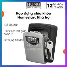 Hộp đựng chìa khóa Lockbox – Sử dụng mã số – Bảo vệ chìa khóa – Thuận tiện sử dụng – Lắp đặt dễ dàng – Lock box cho homestay – Quản lý từ xa – Bảo hành 12 tháng