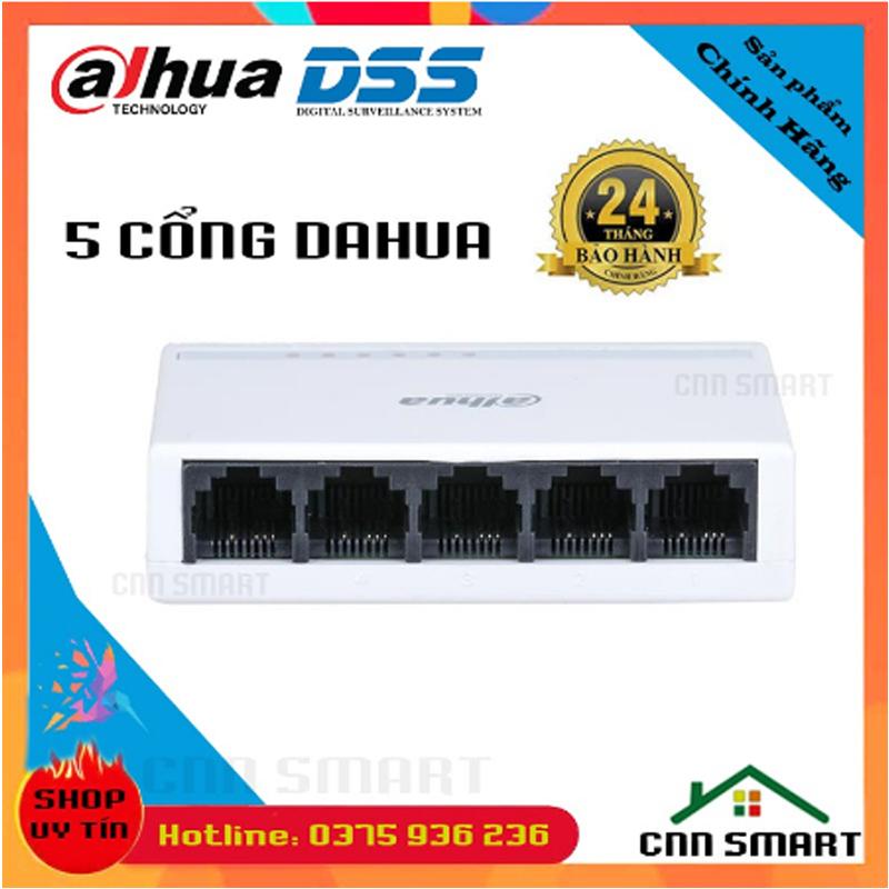 Bộ chia mạng 5 cổng Dahua DSS 5 8 cổng TotoLink Tốc Độ 100Mbps - Hàng chính hãng BH24TH (5...