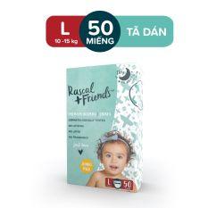 [ĐỘC QUYỀN TẠI LAZADA] – Tã/Bỉm Dán Rascal & Friends cho bé 10kg – 15kg – Size L 50 miếng
