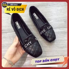 Giày đế bệt trần chỉ GIVE giày búp bê giày nữ giá rẻ giày nữ công sở giày xăng đan nữ