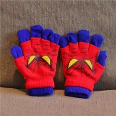 Găng tay len cho bé hình siêu nhân – Găng tay len 2 lớp người nhện trẻ em