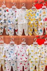 Bộ dài nút giữa cotton giấy cho bé 5-16kg (1 bộ)
