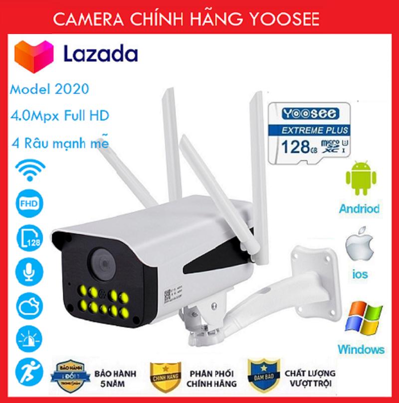 (KÈM THẺ NHỚ 32GB)+ Camera Wifi Camera Yoosee 4 râu 10 led ngoài trời 4.0Mpx Full HD thế hệ mới