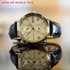 Đồng Hồ Nam Romanson TL1276BMGGD [ Full Box – Sổ BH Quốc Tế 3 Năm ] Chống Xước – Chống Nước – Dây Da Cao Cấp