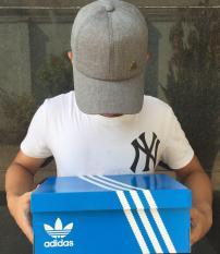 [GiveBox] Nón kết mũ lưỡi trai Adidas_Y2 (Xám trắng)