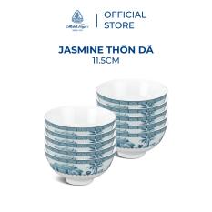 Bộ 10 chén sứ cao cấp Minh Long 11.5 cm – Jasmine – Thôn Dã