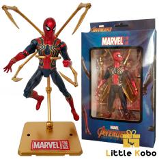Mô Hình Spider Man Mô Hình Người Nhện Iron Spider Siêu Xịn Cao 17cm