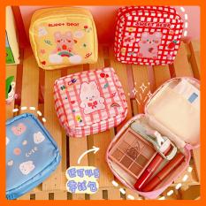 Túi vải đựng đồ trang điểm chống nước, ví mini đa năng chứa đồ cá nhân bỏ túi đi du lịch