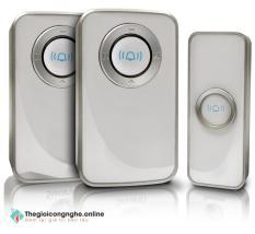 Chuông cửa không dây: 2 chuông, 1 nút bấm – Hỗ trợ nhà cao tầng