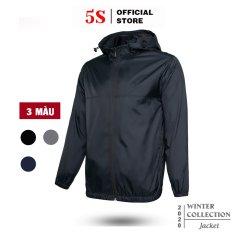 Áo Khoác Dù Nam 5S (3 màu) 2 lớp, Mũ Rời, Dáng Trẻ Trung, Chống Nắng, Đi Mưa (AKG20008)