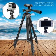 Gậy chụp hình Tripod -Chân máy ảnh Tripod -Tặng kèm túi và giá kẹp điện thoại-Bảo hành 1 đổi 1