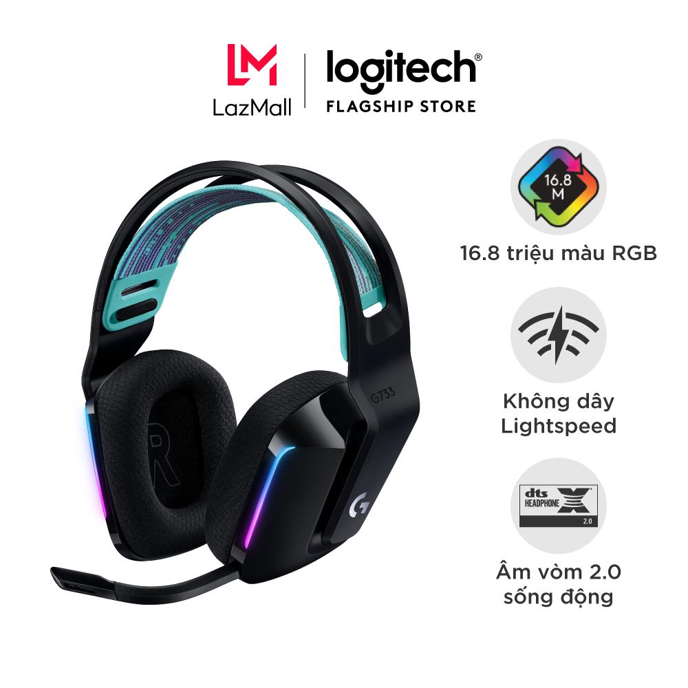 [Trả góp 0%]Tai nghe game không dây Lightspeed Logitech G733 – Headband tùy chỉnh, RGB Lightsync, màn loa Pro-G, Mic Blue Voice