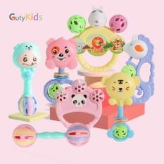 Bộ đồ chơi giải trí lục lạc 7 món cầm tay hình các nhân vật hoạt hình cực kỳ vui nhộn dành cho bé, giúp bé phát triển tập cầm nắm tốt hơn