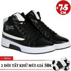 Giày Bốt Tăng Chiều Cao 7.5cm NOKE + 2 Đôi Tất Khử Mùi T3201DE