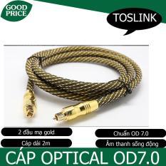 Cáp âm thanh quang Optical – OD7.0 dài 2m (GOLD)